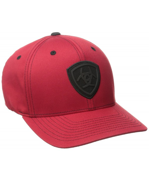 Ariat Men's Red Black Flex Fit Hat - Red - C811PTYP6ML
