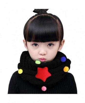 Toddler Thicken Knitted Neckerchiefs Children - Black - CH187ILW2C0