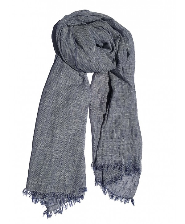 Colby&Co 100% Pure Natural Cotton- No Synthetic Fibers- Unisex- Scarves - Multi Colors/Styles - Heather Blue - CS185ESHWKK