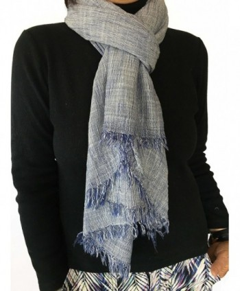 Natural Cotton Synthetic Fibers Scarves in Fashion Scarves