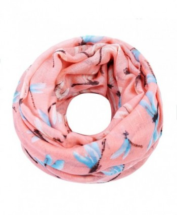 ZQY Ladies' Fashion Dragonfly Printed Long Scarf Super Soft Shawl for Spring Summer Autumn - Pink - CR189ZNOKN3