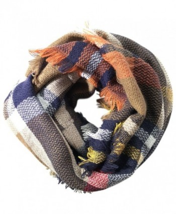 Lanzom Fashion Women Colorful Plaid Warm Scarf Lovely Winter Infinity Circle Loop Scarf - Style 4 - CL18646HYIQ