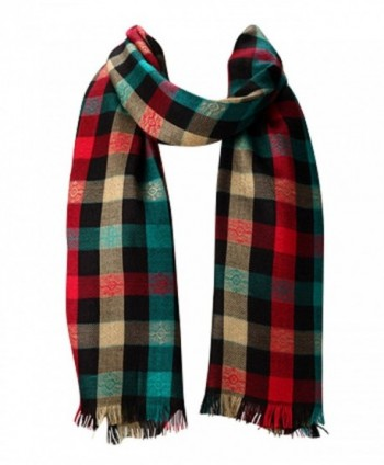 Amtal Women MultiColor Checkered Plaid Tartan Design all season Pashmina Scarf - CS11HQQBFV1
