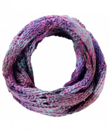 Tickled Pink Women's Luxurious Multicolored Knit Infinity - Purple - CW184WE3M5U