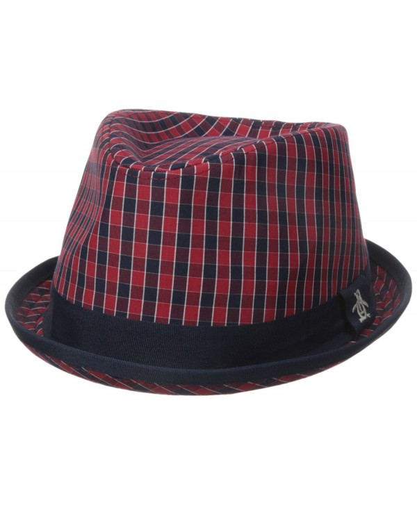 Original Penguin Men's Mini cheque Porkpie - Umbrella Red - CP12CHMB4RX