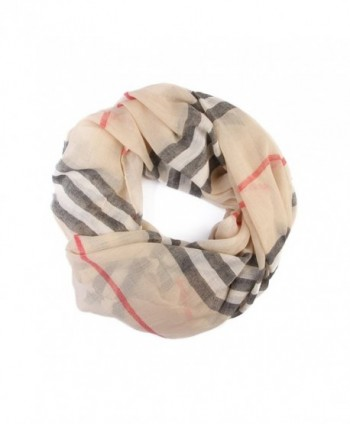 Designer Inspired Infinity Scarf - Light Khaki - CJ187786AL5