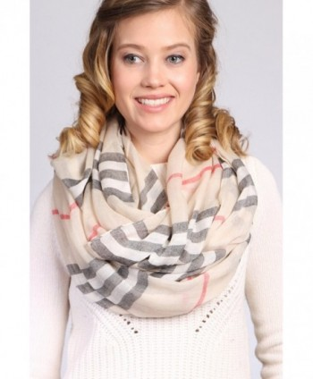Designer Inspired Infinity Scarf Light in Fashion Scarves