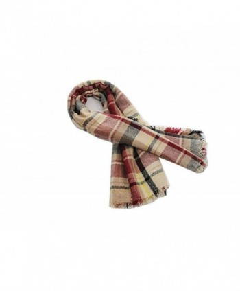 Plaid Blanket Tassels Scarf Gorgeous in Fashion Scarves