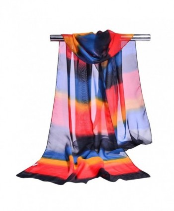 GERINLY Sheer Chiffon Scarves Womens Summer Ombre Dyeing Scarf - Color2 - CE183OAN0T7