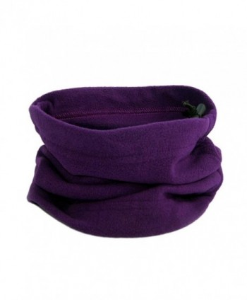 MIOIM Unisex Fleece Thermal Neck Gaiters Warmer Ski Scarf Beanie Balaclava - Purple - CY12N1MQCG3