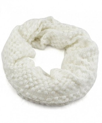 World Pride Winter Wool Knit Infinity Scarf - White - C611I4ACR9L