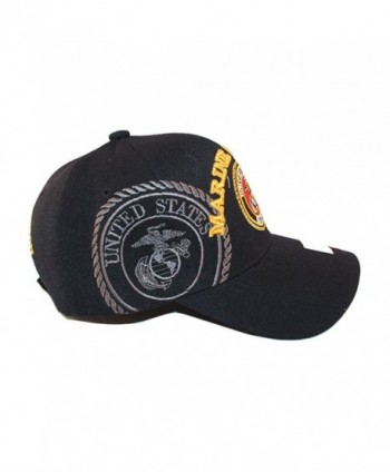 USMC Black Marine Veteran Gold in Men's Baseball Caps