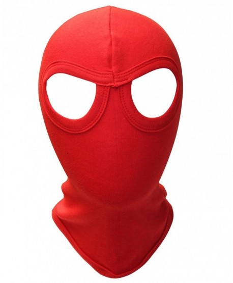 Red Eye Style Motorcycle Biker Cotton Balaclava Facemask Ski Mask - Red - CD125T57RO9