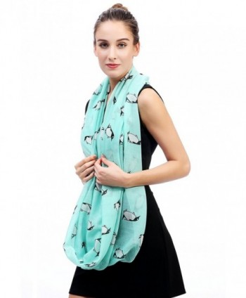 Lina Lily Penguin Infinity Womens in Fashion Scarves