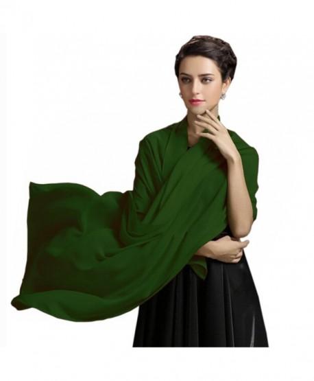 Sarahbridal Womens Chiffon Bridal Evening Prom Shawls Scarves S17022 - Dark Green - CT183LHG0LK