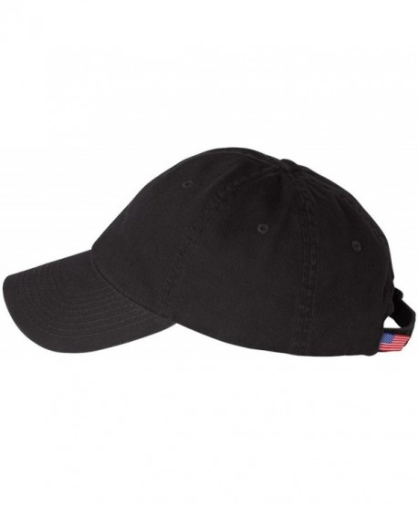 Bayside 3630 Unconstructed Washed Twill Cap - Black - CR11CYQGVIF