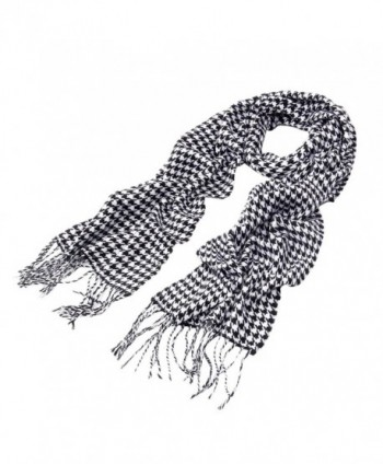 Classic Premium Houndstooth Oblong Fringe in Fashion Scarves