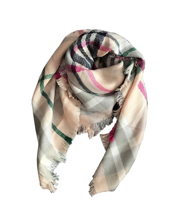 Jastore Kids Girls Boys Stylish Grid Warm Blanket Scarf Gorgeous Wrap Shawl - Color 14 - CF187MX5R8R