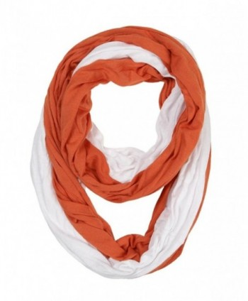 Game Day (College Pro High School Team) Infinity Circle Scarf - Orange & White - CD11TQ3YZ2X