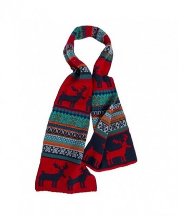 Christmas Printed Scarf Double Side Wrap Scarves Polyester Cashmere Wool Warm Shawl for Winter - 2 - CP187K7N9EL
