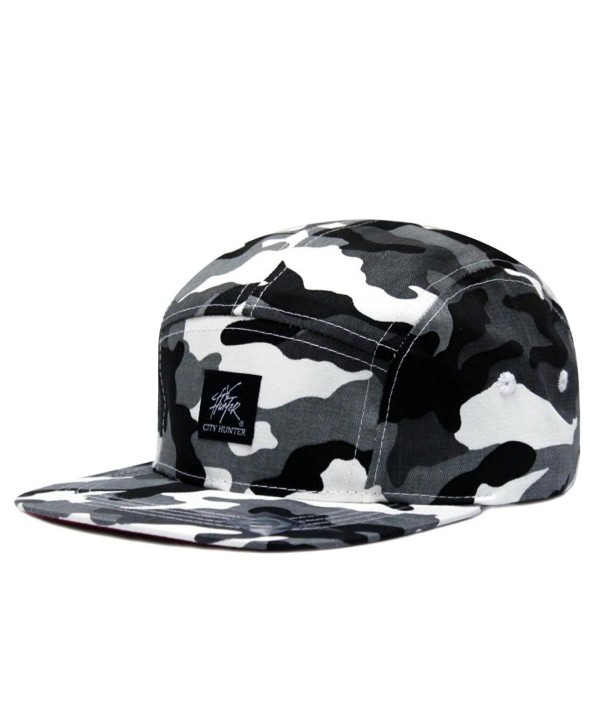 City Hunter Cn580 Camouflage All Over 5 Panel Biker Hat (4 Colors) - City Camo grey - CM11JAGSH1Z