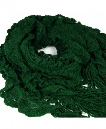 HUAN XUN Knitting Tassels Fashion - Ruffle & Weave - Green - CT11EHP8WFB