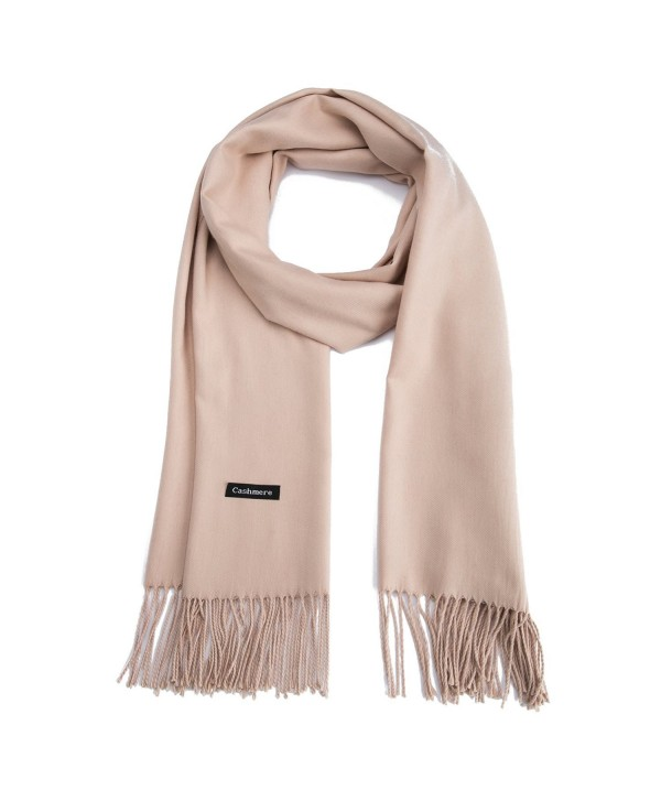 Premium Large Cashmere Scarf - Pashima Shawls And Wraps for Women in Fall & Winter - Khaki - CE1888HA2ZE