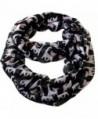 "Infinity Cute Cat Print Viscose Scarf CSJ-L-18A (Black) - "" Black "" - C711YLBGP37"
