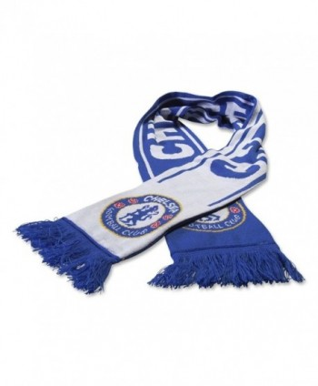 Chelsea FC Woven Winter Scarf (Reflux Blue/White) - C211P6LXV3D