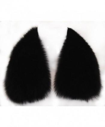 Women's Short Fox Real Fur Collar Scarf Wrap Shawl - CH12FR1VRA9
