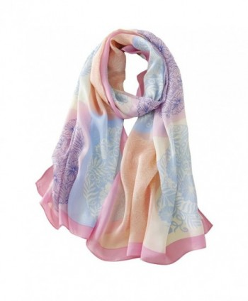Tong Rui Women's Large Silk Scarf Colorful Scarf - Tr 02 - CZ185KC9E0Z