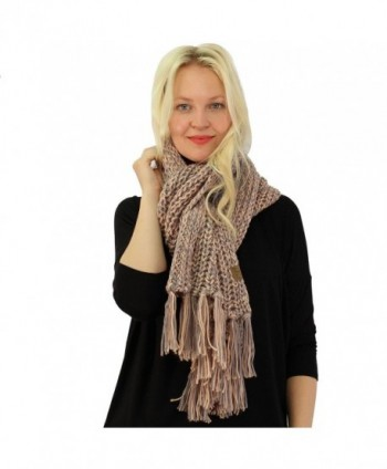 2tone Super Chunky Thick Fringe in Fashion Scarves