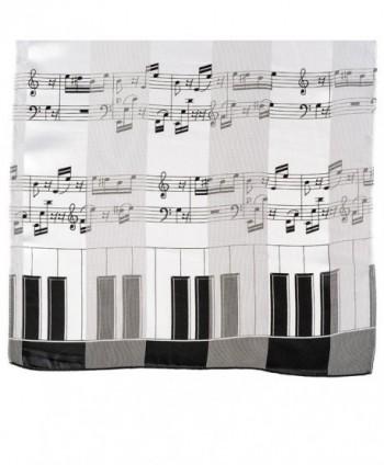 Music Note Scarf Piano White