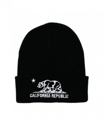 RW California Republic Cuff Knit Beanie - Black/White - CW128B8AJ13