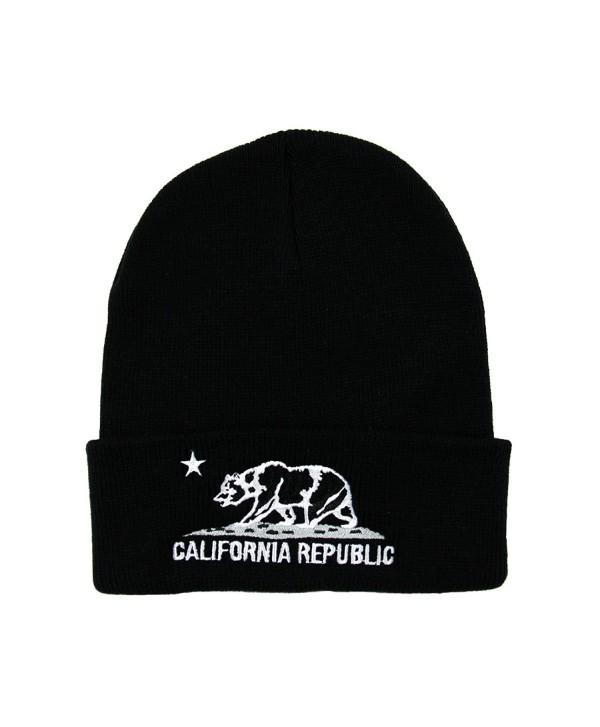 RW California Republic Cuff Knit Beanie - Black/White - CW128B8AJ13