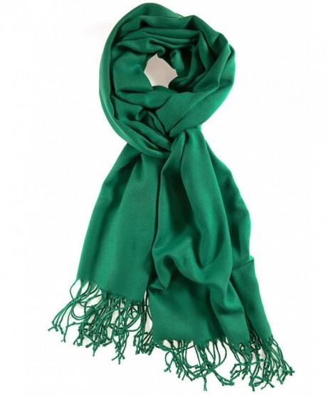 La Purse Light Weight Solid Color Pashmina Scarf- Silk Feel & - Kelly Green - CY11RW16PF1