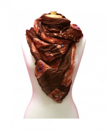 Brown Exotic Jewel Print Light in Wraps & Pashminas