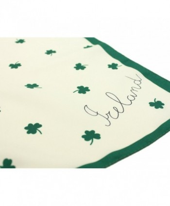 Shamrock Scarf Green Polyester Ireland in Fashion Scarves