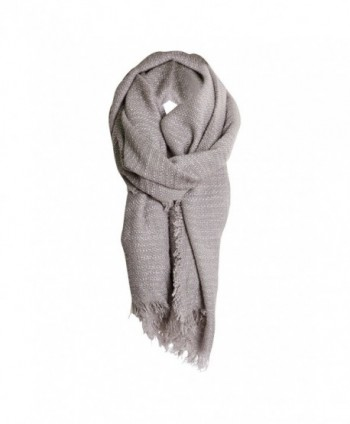 Heather Gray Solid Cozy Color Womens Fashion Warm Winter Blanket Scarf Scarves - CW1877EOZ9T