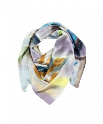 TexereSilk Women's 100% Silk Elegant Square Scarf - Stylish Luxury Gifts AS0026 - Multicolored - CT115EPXO65