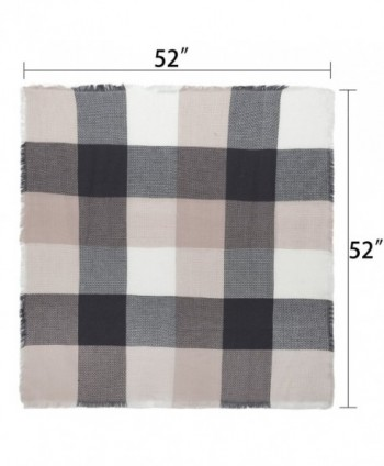 Square Oversized Tartan Blanket Winter in Cold Weather Scarves & Wraps