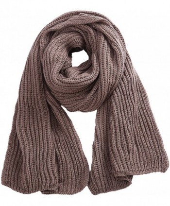 Soft Winter Scarves Warm Knit Scarves for Outdoor Knitted Womens Scarves - Dark Khaki - CS188M20LGT