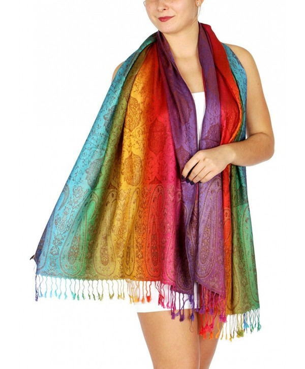 SERENITA Multi color Rainbow Pashmina - Multi Color 10 - C812NSSYQRR