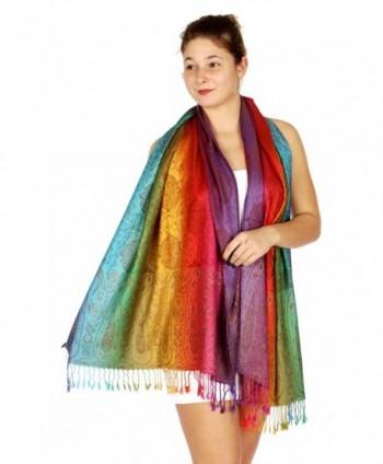 SERENITA Multi color Rainbow Pashmina