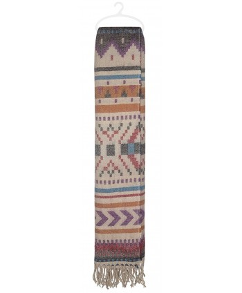 Capelli New York navajo stripes brushed woven blanket scarf With fringe - Warm Combo - CP124SD4I09