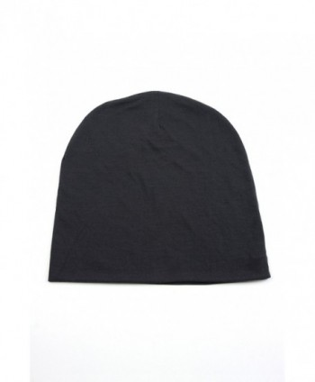 Unisex Solid Color Soft Jersey Skull Cap Beanie 407HB - Darkgray - C211O31OOXD