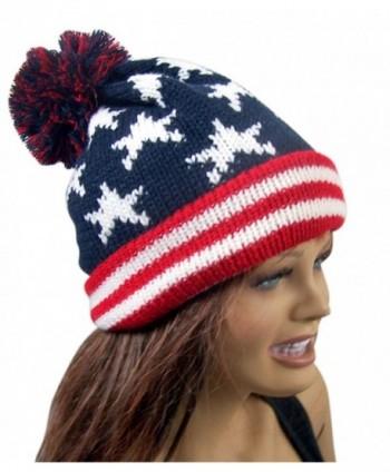 Patriotic American Flag Cuffed Beanie in Men's Skullies & Beanies