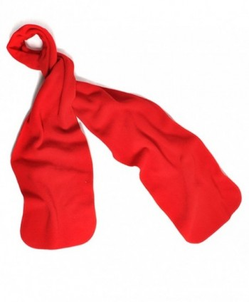 Nollia Solid Color Fleece Unisex Winter Scarf (Red - CW11QIQTYOP