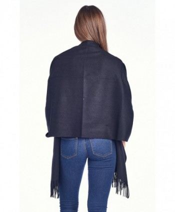 High Style Lambswool Oversized SolidBlack in Wraps & Pashminas