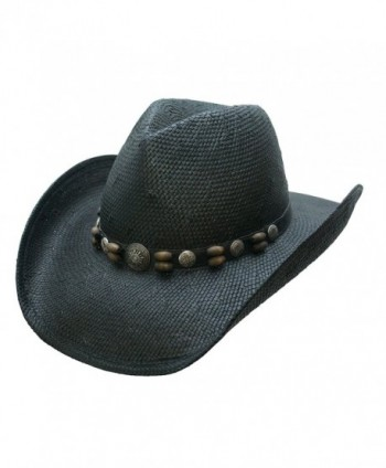 Conner Hats Unisex Beaver Creek Western Hat - Black - CN11DPPBBMP